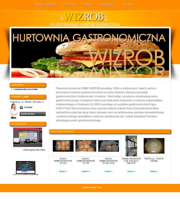 strony internetowe dla restauracji
